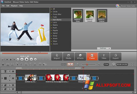 Capture d'écran Movavi Video Suite pour Windows XP