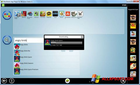 Capture d'écran BlueStacks pour Windows XP