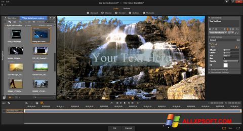 Capture d'écran Pinnacle Studio pour Windows XP