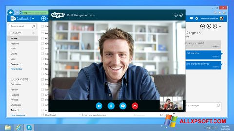Capture d'écran Skype pour Windows XP