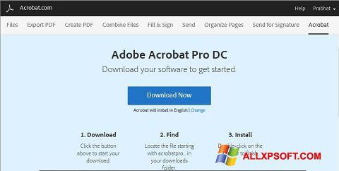 Capture d'écran Adobe Acrobat pour Windows XP