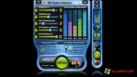 Capture d'écran DFX Audio Enhancer pour Windows XP