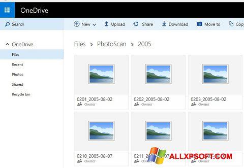 Capture d'écran OneDrive pour Windows XP