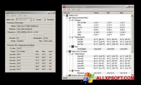 Capture d'écran Core Temp pour Windows XP