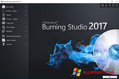 Capture d'écran Ashampoo Burning Studio pour Windows XP