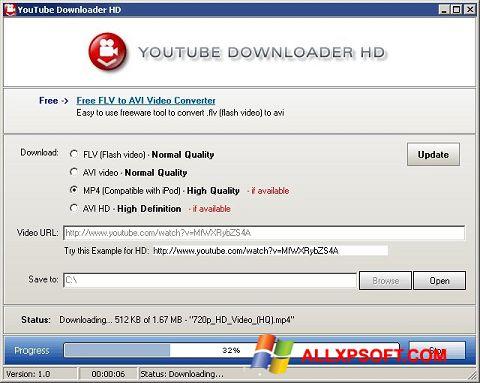 Capture d'écran Youtube Downloader HD pour Windows XP