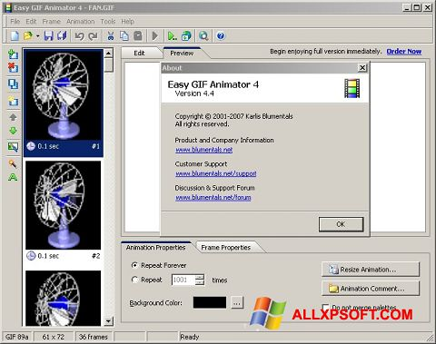 Capture d'écran Easy GIF Animator pour Windows XP