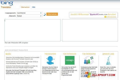Capture d'écran Bing Translator pour Windows XP