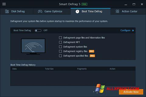 Capture d'écran Smart Defrag pour Windows XP