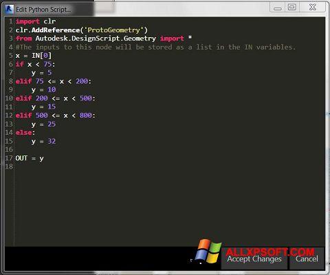 Capture d'écran Python pour Windows XP