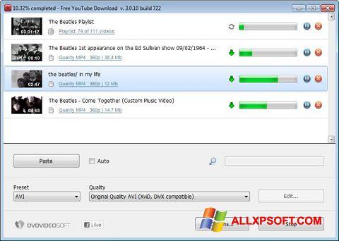 Capture d'écran Free YouTube Download pour Windows XP