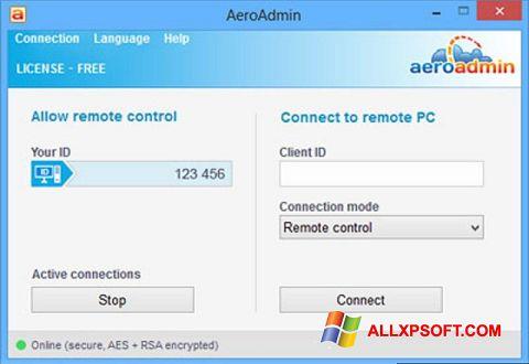 Capture d'écran AeroAdmin pour Windows XP