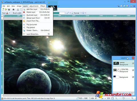 Capture d'écran Paint.NET pour Windows XP